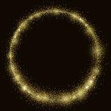 Χρυσό διανυσματικό πρότυπο δαχτυλιδιών σκόνης λαμπρό απεικόνιση αποθεμάτων