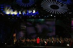 χρυσό διεθνές αρσενικό ελάφι μουσικής διαγωνισμού Στοκ Φωτογραφία