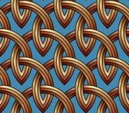 Χρυσό δικτυωτό πλέγμα - άνευ ραφής σχέδιο φιαγμένο από καλώδιο Στοκ Εικόνα