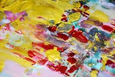 Χρυσό ιώδες λασπώδες αφηρημένο ζωηρόχρωμο υπόβαθρο watercolor, χρυσή σύσταση Στοκ φωτογραφία με δικαίωμα ελεύθερης χρήσης
