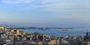 Χρυσό κέρατο και το Bosphorus Στοκ Φωτογραφίες