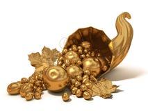 Χρυσό κέρατο της αφθονίας Στοκ Εικόνες