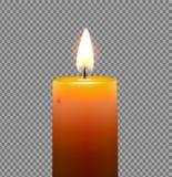 Χρυσό κίτρινο κερί Στοκ εικόνα με δικαίωμα ελεύθερης χρήσης