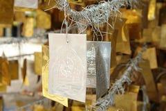 Χρυσό και ασημένιο φυλακτό Στοκ φωτογραφίες με δικαίωμα ελεύθερης χρήσης
