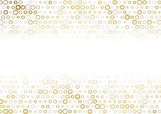 Χρυσό και γκρίζο αφηρημένο υπόβαθρο σημείων απεικόνιση αποθεμάτων