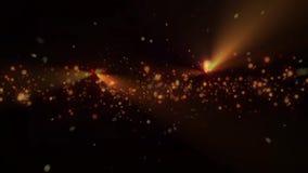 Χρυσό και ζωηρόχρωμο bokeh Χριστουγέννων στο μαύρο υπόβαθρο με τα μόρια bokeh σπινθήρισμα και φλόγα, χρυσές διακοπές διανυσματική απεικόνιση