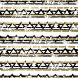 Χρυσό και μαύρο άνευ ραφής σχέδιο Στοκ φωτογραφία με δικαίωμα ελεύθερης χρήσης