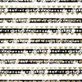 Χρυσό και μαύρο άνευ ραφής σχέδιο Στοκ Εικόνες