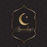 Χρυσό και μαύρο υπόβαθρο Ramadan Στοκ εικόνα με δικαίωμα ελεύθερης χρήσης