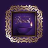 Χρυσό και πορφυρό υπόβαθρο Diwali ελεύθερη απεικόνιση δικαιώματος