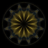 χρυσό καλώδιο αστεριών mandala Διανυσματική απεικόνιση
