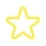 Χρυσό καμμένος αναδρομικό έμβλημα αστεριών Στοκ φωτογραφία με δικαίωμα ελεύθερης χρήσης