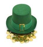 Χρυσό καπέλο Leprechaun Στοκ εικόνες με δικαίωμα ελεύθερης χρήσης
