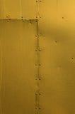 Χρυσό καρφωμένο υπόβαθρο μετάλλων φύλλων Στοκ Εικόνα