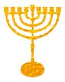 Χρυσό κηροπήγιο που απομονώνεται στο άσπρο υπόβαθρο ελεύθερη απεικόνιση δικαιώματος