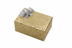 Χρυσό κιβώτιο δώρων Στοκ Εικόνες