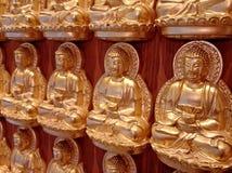 Χρυσό κινεζικό άγαλμα του Βούδα Στοκ Φωτογραφίες