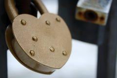 χρυσό κλείδωμα Στοκ Εικόνες