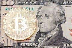 Χρυσό κομμάτι-νόμισμα αμερικανικό dolllar στενό σε επάνω Στοκ εικόνα με δικαίωμα ελεύθερης χρήσης