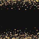 Χρυσό κομφετί καρδιών κλίσης διανυσματική απεικόνιση