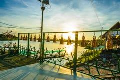 Χρυσό κουδούνι στο ναό της Ταϊλάνδης στοκ φωτογραφία