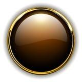 Χρυσό κουμπί διανυσματική απεικόνιση