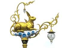 Χρυσό κουνέλι lamppost Στοκ Φωτογραφία