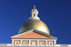 χρυσό κράτος σπιτιών θόλων της Βοστώνης Στοκ εικόνα με δικαίωμα ελεύθερης χρήσης
