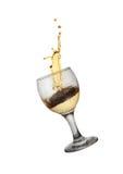 Χρυσό κρασί Στοκ εικόνα με δικαίωμα ελεύθερης χρήσης