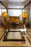Χρυσό κρεβάτι του τεντωμένου θησαυρού Ankh Amon - αιγυπτιακό μουσείο Στοκ Φωτογραφίες