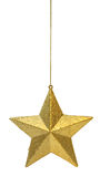 χρυσό κρεμώντας αστέρι Στοκ Φωτογραφία