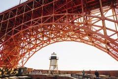 Χρυσό κτήριο γεφυρών πυλών σημείου οχυρών Στοκ φωτογραφία με δικαίωμα ελεύθερης χρήσης