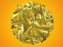 Χρυσό κυκλικό σχέδιο τριγώνων Στοκ Φωτογραφία