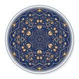 Χρυσό κυκλικό σχέδιο 01 Στοκ Φωτογραφία