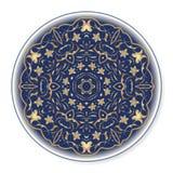 Χρυσό κυκλικό σχέδιο 01 Στοκ Εικόνες
