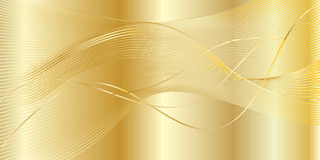 Χρυσό κυματιστό υπόβαθρο Στοκ Εικόνες
