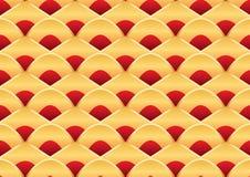 Χρυσό κόκκινο άνευ ραφής σχέδιο ύφους φεστιβάλ βαρκών δράκων απεικόνιση αποθεμάτων