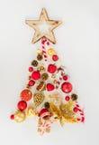 χρυσό κόκκινο δέντρο Χριστ Στοκ φωτογραφία με δικαίωμα ελεύθερης χρήσης