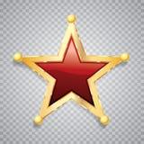 Χρυσό κόκκινο αστέρι σφαιρών απεικόνιση αποθεμάτων