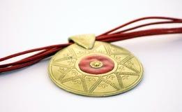 χρυσό κόκκινο κοσμήματος Στοκ Εικόνες