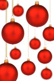 χρυσό κόκκινο νήμα Χριστουγέννων μπιχλιμπιδιών δονούμενο Στοκ Φωτογραφία