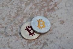 Χρυσό κόκκινο νόμισμα bitcoin Στοκ Εικόνα