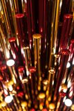 Χρυσό κόκκινο πλαστικό υπόβαθρο metall Στοκ φωτογραφίες με δικαίωμα ελεύθερης χρήσης