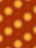 χρυσό κόκκινο προτύπων κύκ&lamb Στοκ Εικόνα