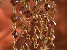 χρυσό κόκκινο χαντρών Στοκ φωτογραφία με δικαίωμα ελεύθερης χρήσης