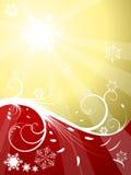 χρυσό κόκκινο Χριστουγέν&n απεικόνιση αποθεμάτων