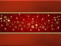 χρυσό κόκκινο διακοπών αν&al Στοκ εικόνα με δικαίωμα ελεύθερης χρήσης