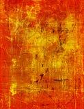 χρυσό κόκκινο grunge Στοκ Εικόνες