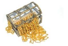 Χρυσό κόσμημα στο στήθος κοσμημάτων Στοκ Εικόνα