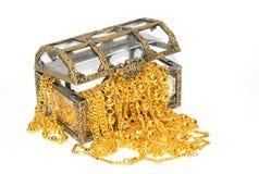 Χρυσό κόσμημα στο στήθος κοσμημάτων Στοκ Εικόνες